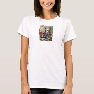 Camiseta Dança de morte - freira - impressão de cor 1816