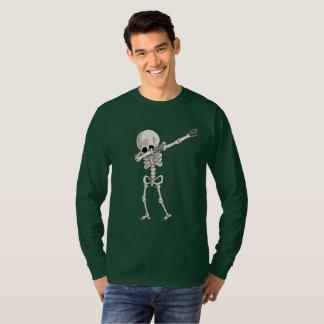 Camiseta dança de toque ligeiro de esqueleto da solha do