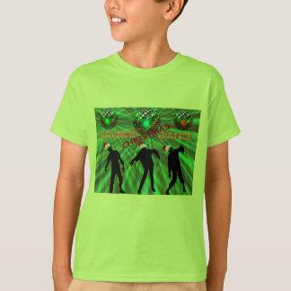 Camiseta Dança do disco do Natal do zombi