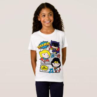Camiseta Dança dos heróis de Chibi