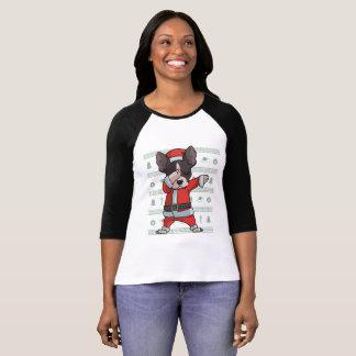 Camiseta Dança engraçada de toque ligeiro da solha do Natal