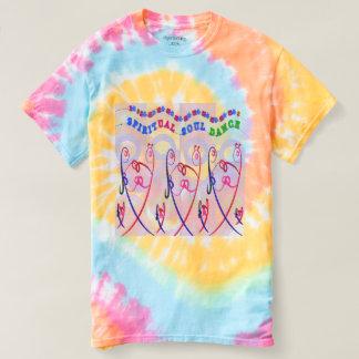 Camiseta DANÇA ESPIRITUAL da ALMA da Laço-Tintura espiral