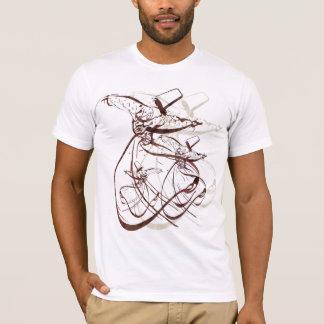 Camiseta Dança girando de Nastaleeq Sufi
