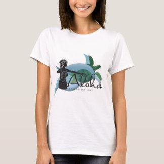 Camiseta Dançarino 198 da tartaruga e do Hula de Havaí