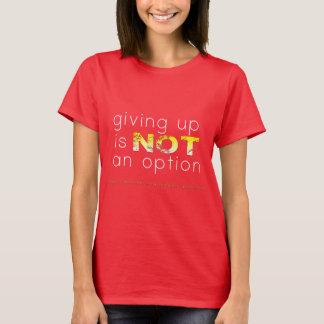 Camiseta Dar acima não é uma opção