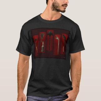 Camiseta Das armas de Tikis parte traseira polinésia sobre
