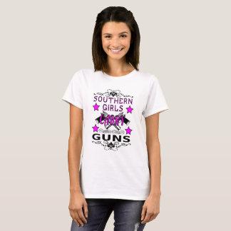 Camiseta Das armas do sul do carregar das meninas das