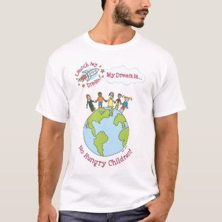 """Camiseta Das """"camisa nenhumas crianças com fome"""" de Katie"""