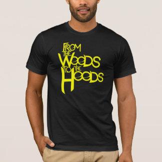 Camiseta Das madeiras ao T das capas: Amarelo preto do n