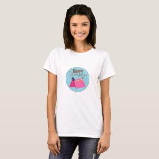 Camiseta Das mulheres boémias da barraca do campista feliz