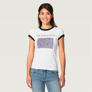 Camiseta Das mulheres curas da igreja da esperança o