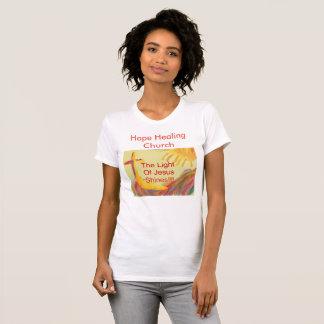 Camiseta Das mulheres curas da igreja da esperança Tshirt