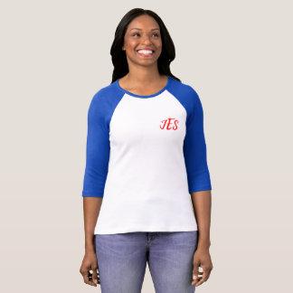 Camiseta Das mulheres de canto do monograma do JES T do