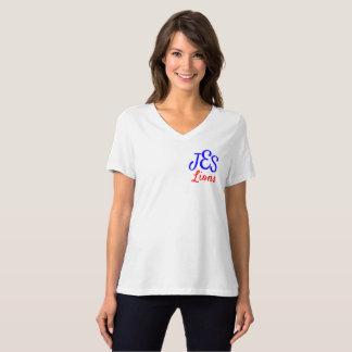 Camiseta Das mulheres de canto do monograma dos leões do