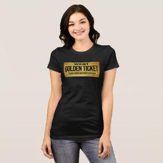 Camiseta Das mulheres DOURADAS do BILHETE de WCST o Bella+T