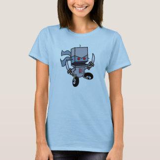 Camiseta Das mulheres grandes do logotipo dos robôs do