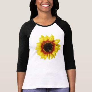 Camiseta das mulheres híbridas instantâneas solares da flor