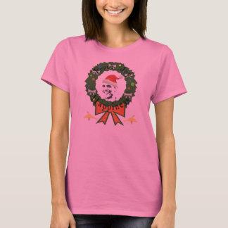 Camiseta Das mulheres longas da luva do feriado festivo de