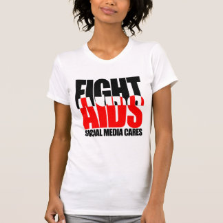 Camiseta Das mulheres sociais dos cuidados dos meios do