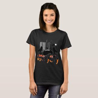 Camiseta Das mulheres ventosas da cidade da arquitectura da