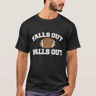 Camiseta Das quedas bolas para fora para fora