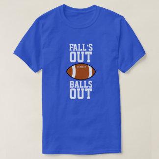 Camiseta Das quedas para fora das bolas futebol para fora
