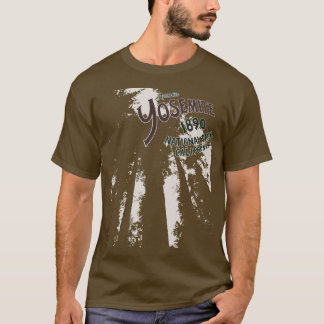 Camiseta das sequóias do parque nacional de