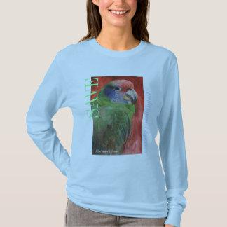 """Camiseta Das """"t-shirt da pintura do papagaio da espécie em"""