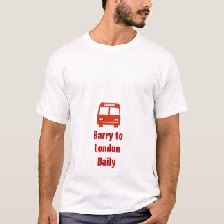 Camiseta Daves treina o vermelho, Barry toLondonDaily
