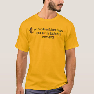 Camiseta Davidson do leste Eagles dourado G…