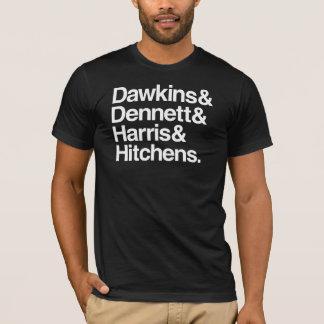 Camiseta Dawkins & Dennett & Harris & Hitchens.