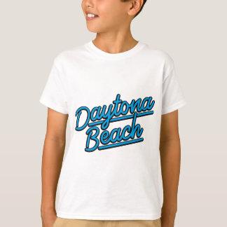 Camiseta Daytona Beach em ciano