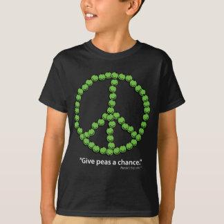 Camiseta Dê a ervilhas uma possibilidade (os tecidos