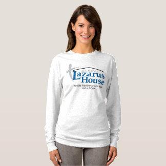 """Camiseta De """"A luva longa T das mulheres do logotipo"""