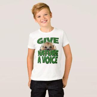 Camiseta DÊ a NATUREZA um design do ouriço da VOZ