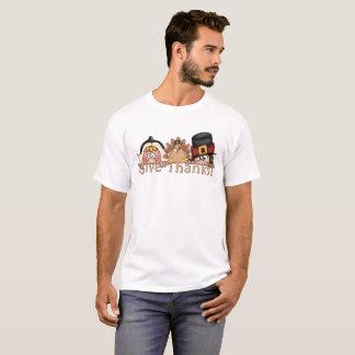Camiseta Dê a obrigados peregrinos t-shirt
