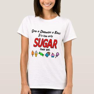 Camiseta Dê a um diabético um beijo
