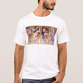 Camiseta ~ de Alfons Mucha as quatro estações