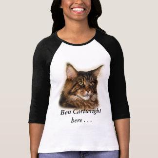Camiseta De Ben do carroceiro t-shirt do jérsei do gato de
