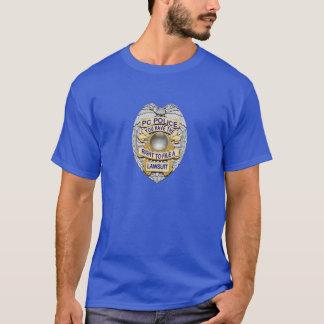 Camiseta De Blue Line crachá correto fino da polícia