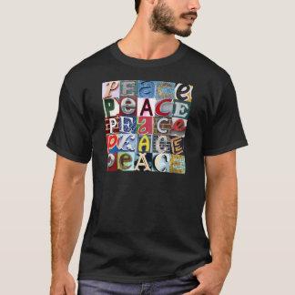 """Camiseta De """"camisa dos sinais PAZ"""""""