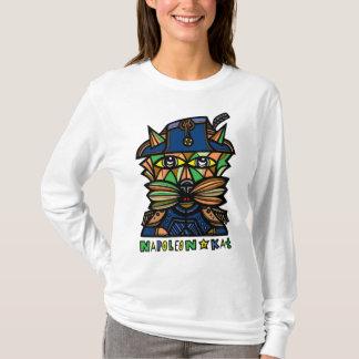 """Camiseta De """"camisa longa da luva das mulheres Napoleon"""