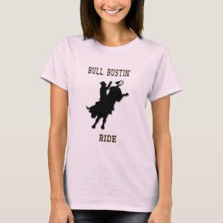 """Camiseta De """"camisa ocidental das senhoras T do passeio"""