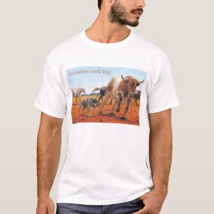 Camiseta de cão australiana do gado