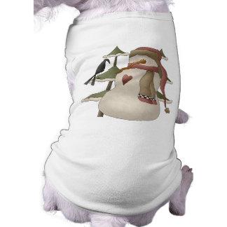 Camiseta de cão bonito do Natal do boneco de neve Camisa Sem Mangas Para Cachorro