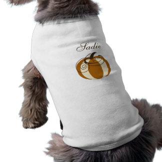 Camiseta de cão da abóbora