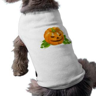 Camiseta de cão da abóbora do Dia das Bruxas
