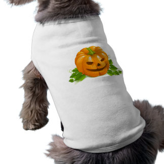 Camiseta de cão da abóbora do Dia das Bruxas Camisa Sem Mangas Para Cachorro