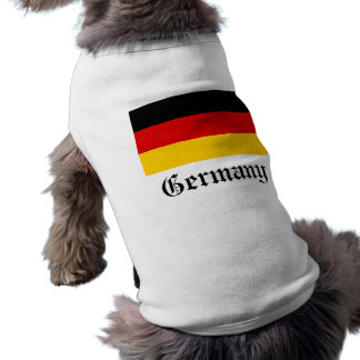 Camiseta de cão da bandeira de Alemanha Camisa Sem Mangas Para Cachorro