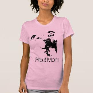 Camiseta de cão da mamã de Pitbull